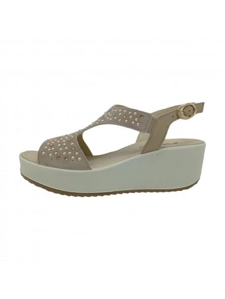 Sandali Imac Donna Beige-Grey Confort Made in Italy 508330-beige-grey