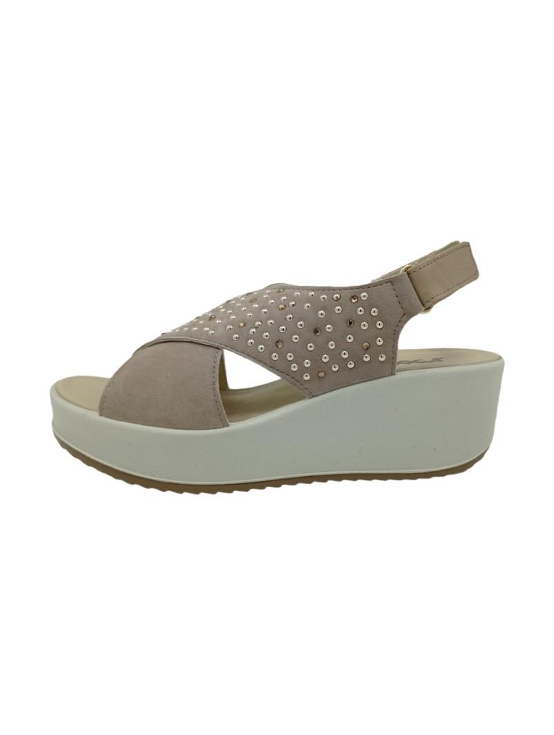 Sandali Imac Donna Beige-Grey Confort Made in Italy 508320-beige-grey